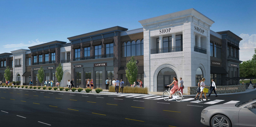 Paragon Realty | commercial real estate development of office-retail The Carmony Building in Brownsburg, Indiana