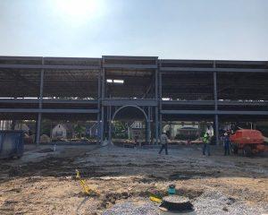Paragon Development   Steel Arch Construction   Green Street